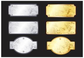 Vecteurs de plaque métallique vecteur