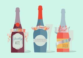 Fond moderne de vecteur de champagne moderne et moderne