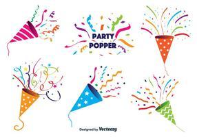 Vecteur popper party