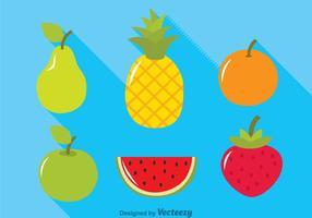 Icônes des fruits tropicaux vecteur