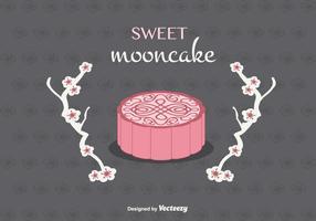 Mooncake background vectoriel