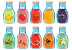 Vecteurs de jus de fruits