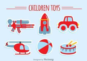 Collection de jouets pour enfants vecteur