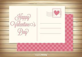 Carte postale mignonne de Saint-Valentin vecteur