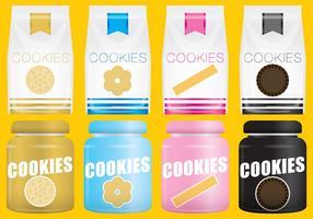 Cookies de paquets vectoriels vecteur
