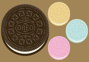 Vecteurs de cookies Oreo