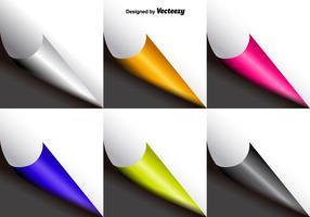 Kit de flip de page coloré vecteur