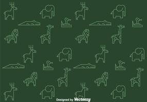 Motif des animaux de contours