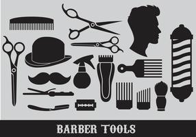 Vecteurs d'outils de coiffeur