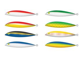 Vecteurs flottants de leurres de pêche Rapala