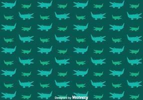 Vecteur de motif d'alligator