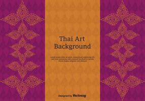 Art de vecteur de motif thaïlandais gratuit
