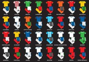 Kits de football internationaux vecteur