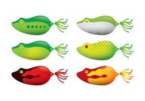 Vecteurs de sonde de pêche à la grenouille