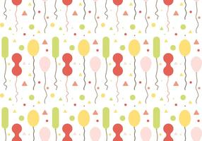 Free Balloons Pattern Vector # 1