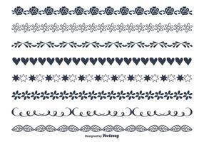 Jolies frontières de styles dessinés à la main vecteur