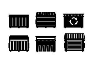 Vecteur de benne à ordures