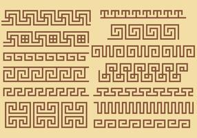 Vecteurs de frontière clés grecques vecteur