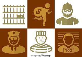 Police et icônes criminelles vecteur