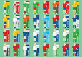 Joueurs de football internationaux vecteur