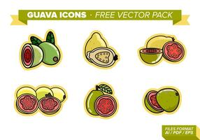 Icônes de goyave Free Vector Pack