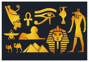 Éléments d'Egypte vecteur