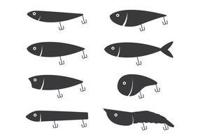 Icône de lancer de pêche vecteur