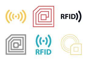 Icône vectorielle gratuite de Rfid vecteur