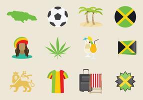 Icônes de la Jamaïque vecteur