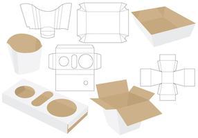 Paquets alimentaires coupés vecteur