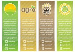 Bannières agro verticales vecteur