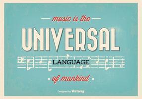 Affiche typographique de citations musicales vecteur