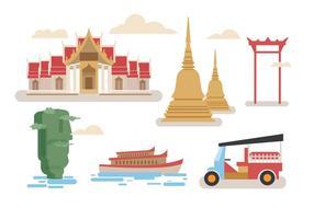 Vecteurs de Bangkok vecteur