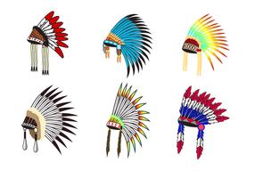 Vecteur de coiffe indigène gratuit