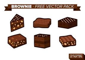 Pack de vecteur gratuit brownie