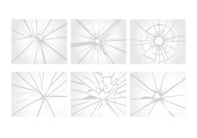 Vecteurs de verre craqué vecteur