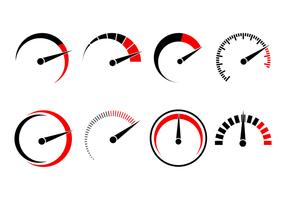 Vecteur logo tachymètre gratuit