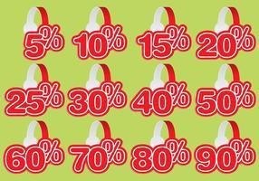 Wobbler Red Discount Vectors