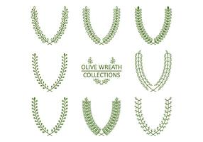 Vecteurs de couronne décoratifs verts vecteur