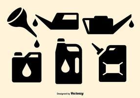 Vecteurs d'éléments de changement d'huile vecteur