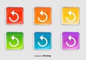 Icônes de relecture brillantes