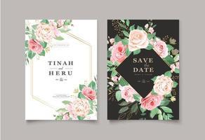 Carte florale élégante avec date