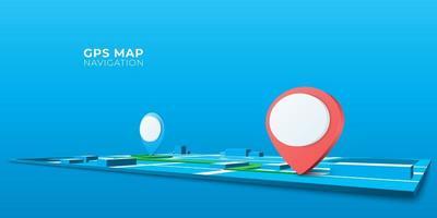 conception d'icône gps navigateur goupille vecteur
