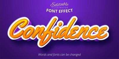 style calligraphique, effet de texte modifiable vecteur
