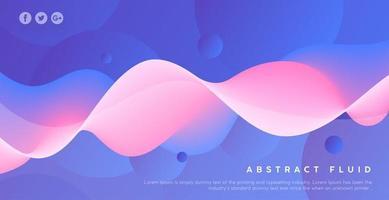 fond de vague abstrait effet fluide rose et violet vecteur