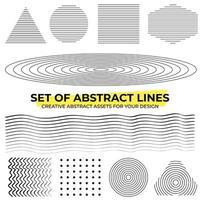 ensemble de formes de lignes géométriques