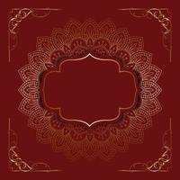 mandala décoratif rouge