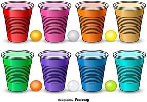 Éléments colorés de Pong de bière