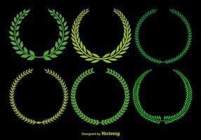 Vecteurs de couronne d'olive vecteur