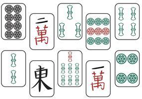 Vecteurs Mahjong II gratuits vecteur